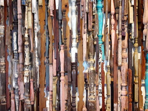 Backgrounds Close-up Colorful Pieces Of Wall Decorative Wood Day Decorative Art Full Frame No People Wood - Material Wood Art Wooden Texture
