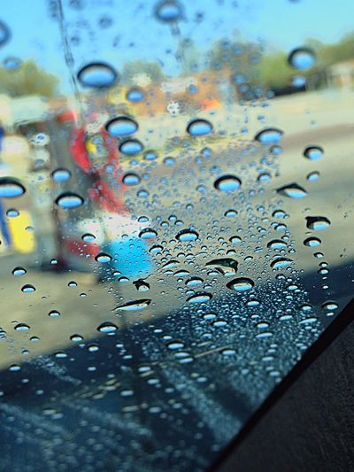 Crystal Clear Water Droplets Car Wash