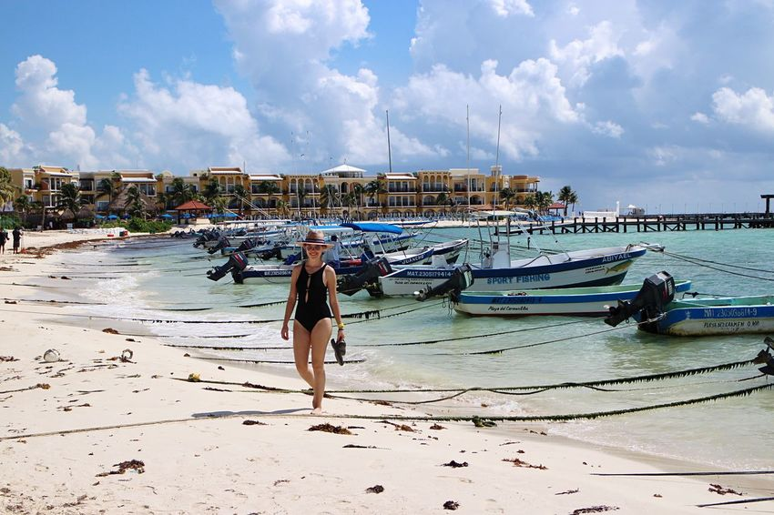 Sunny Day Beach Me Paradise Mexico Visitmexico Playadelcarmen