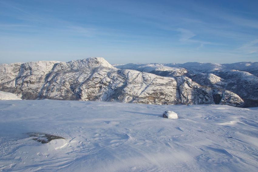 Scenics - Nature Sky Cold Temperature Snow Environment White Color Mountain Range Idyllic Snowcapped Mountain Mountain Peak Outdoors No People Mountain Tranquility Beauty In Nature Winter Landscape Nature Day Tranquil Scene Norway Norway Nature Snowy Mountains Remote Place Peace And Quiet