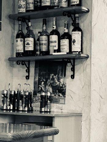 Restaurant 1966 Botle Shelf Variation Text Indoors  Choice Arrangement No People