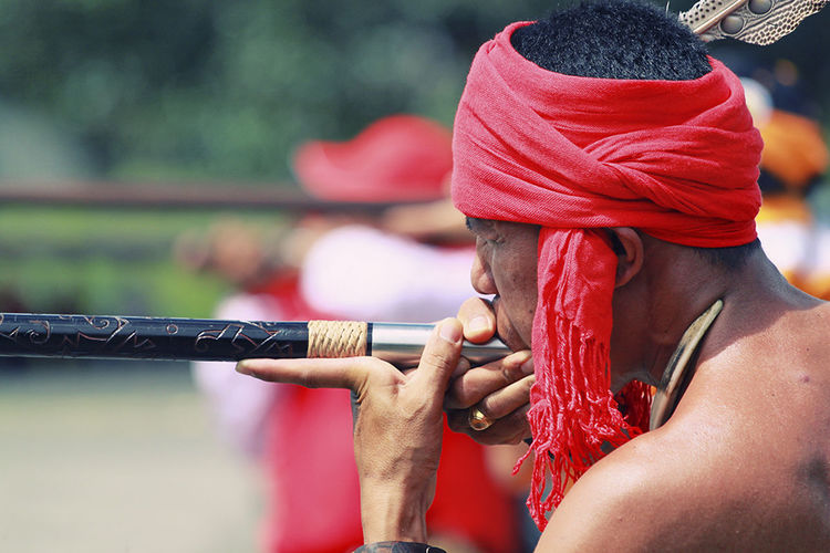 Buda Traditional Culture Close-up Culture And Tradition Cultures Dayak Dayak Culture Sport Sumpit