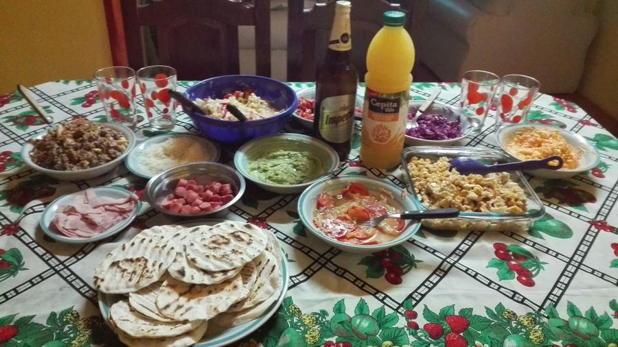 Eyeemfood Food And Drink Family Dinner Tacos