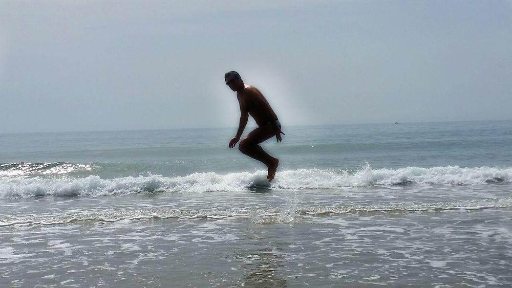 jumping on the beach n.2, ELASTIC Group of Artistic Research, 2016 www.egarlab.eu Jumping Nature Enjoying Life Elastic Group Of Artistic Research Anzio Anziobeach Beach Sea