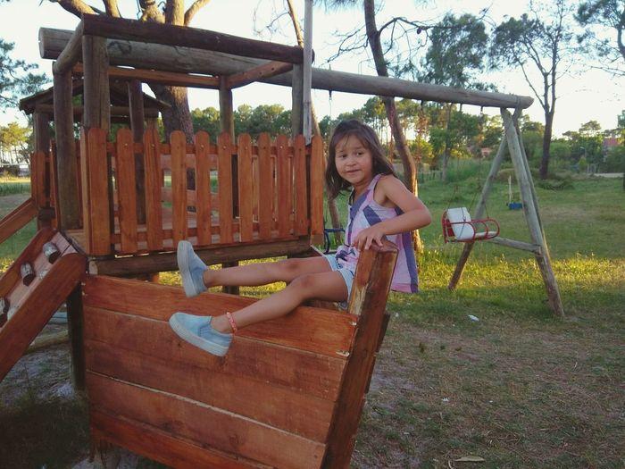 Childhood Playground Girls Children Only Child Full Length Playing