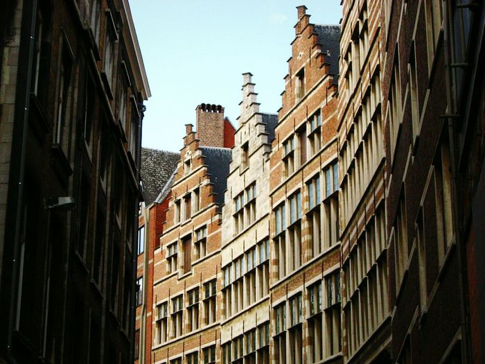 Low Angle View Of Traditional Residential Buildings
