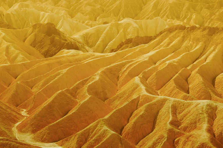 Death Valley Death Valley National Park Zabriskie Point Abstract Backgrounds Beauty In Nature Close-up Crumpled Day Freshness Full Frame High Angle View Indoors  Natural Pattern Nature No People Paper Pattern Textile Textured  Wrinkled Yellow Visual Creativity The Great Outdoors - 2018 EyeEm Awards