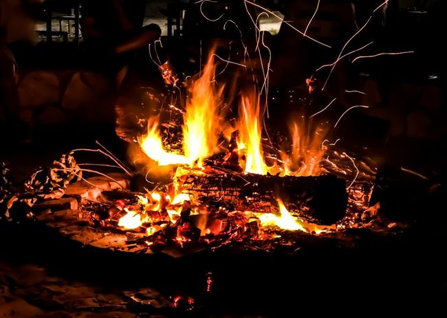 This wood is on fire! 🔥 Mobilephotography Camping Burning Flame Night Outdoors Close-up