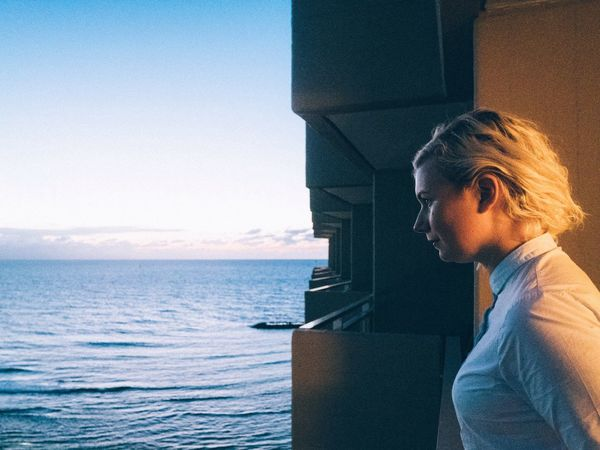 Anna's contemplating on life Sunset Contemplating Ocean