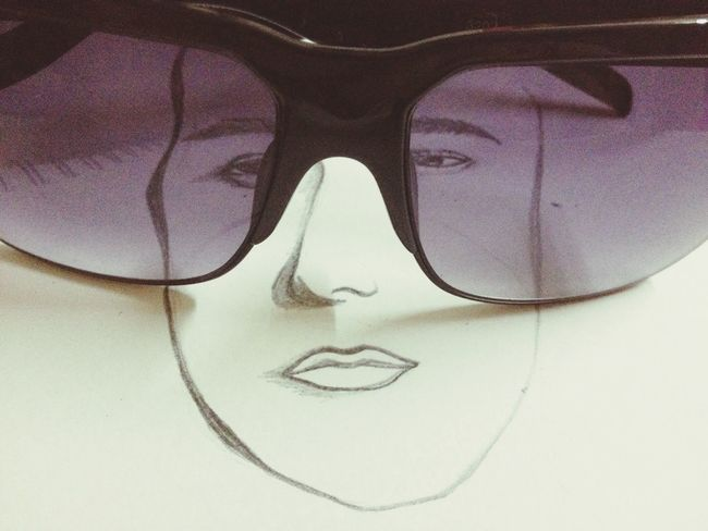 Sunglass  Drawing Mixed Media LCAbby