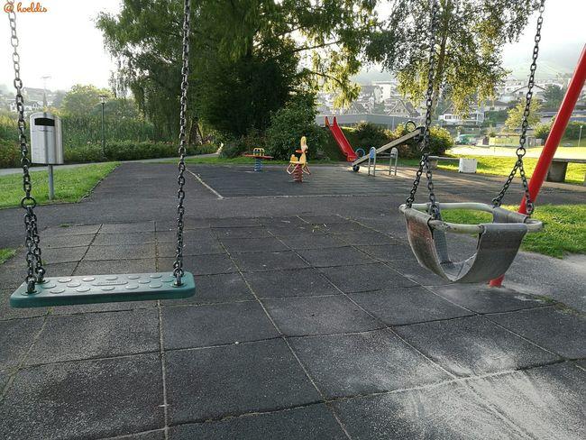 Kinderspielplatz Ruhe Vor Dem Sturm Vierwaldstättersee Küssnacht Am Rigi