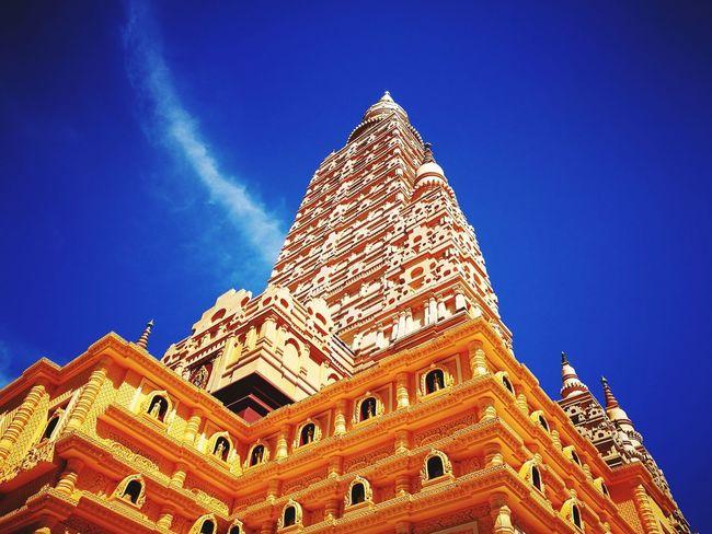 Thai tample Pyramid History City Triangle Shape Religion Ancient Civilization Sky Architecture Building Exterior Built Structure Temple - Building Pyramid Shape Stupa Temple