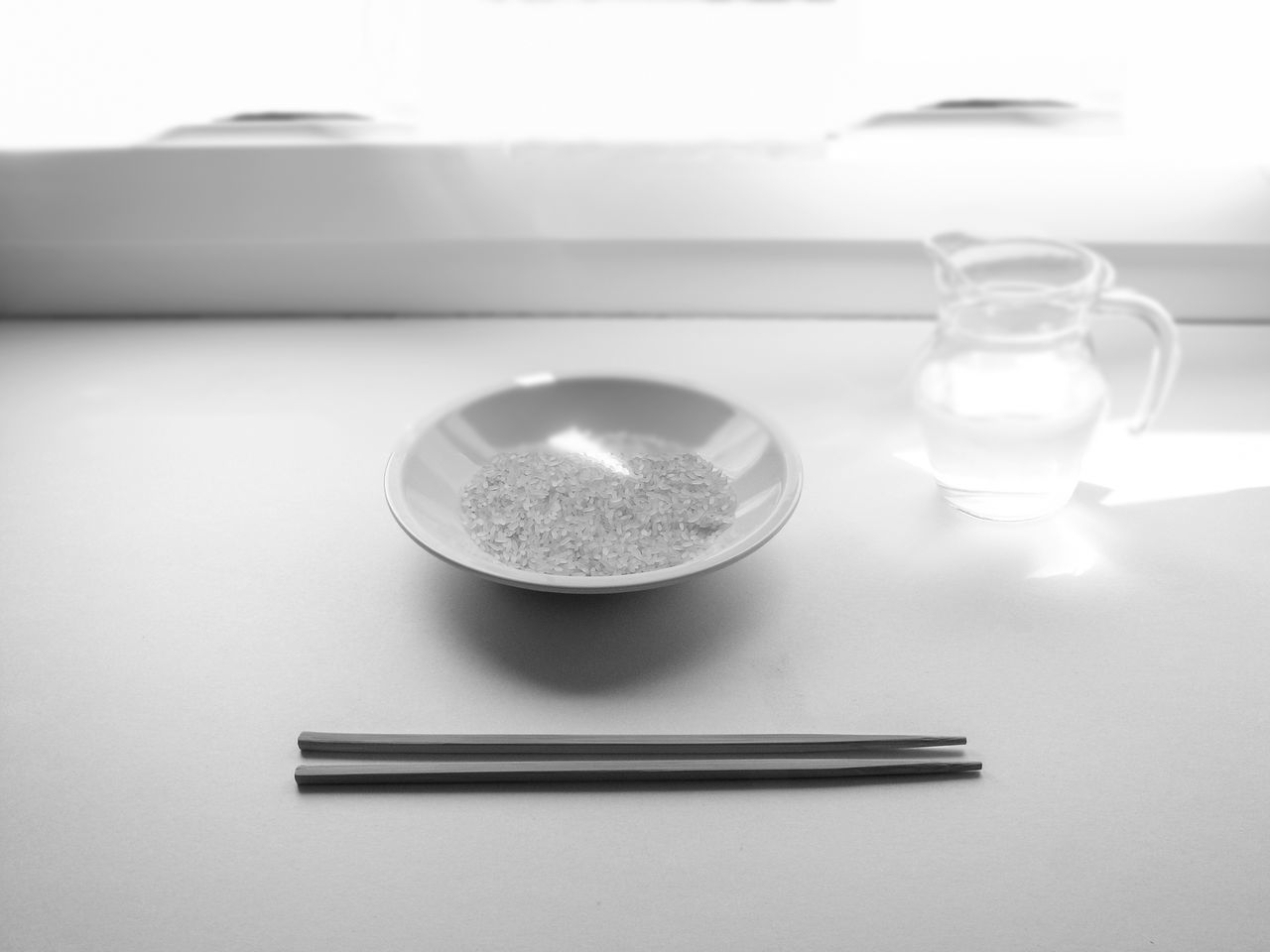 Rice In Plate On Table
