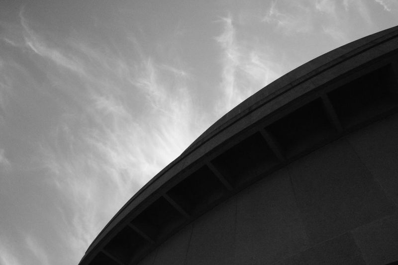 Low Angle View Architecture Built Structure Sky Building Exterior Cloud - Sky Cloud Office Building Day Outdoors Blackandwhite Tall - High Architectural Feature No People Cloudy