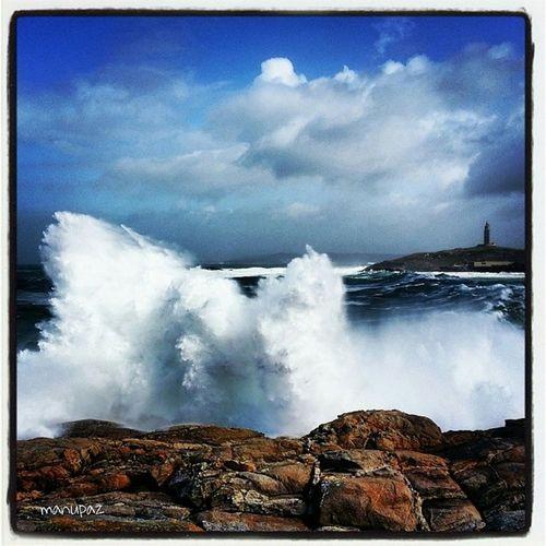 Coru ña Torrehercules Sea Energy storm temporal