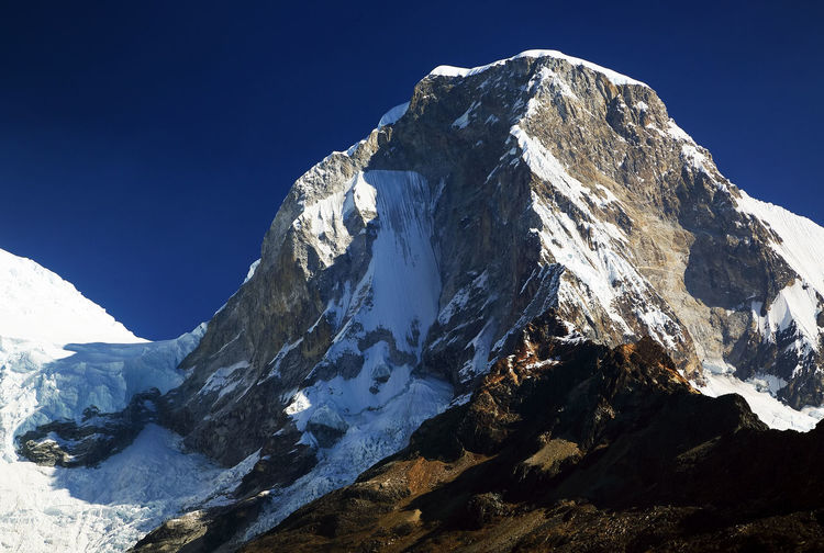 Close-Up Of Snowcapped Mountain Peak