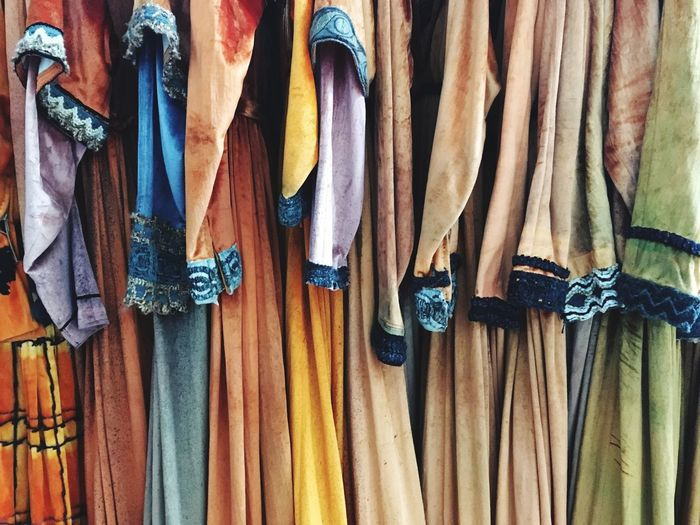 Close-up of clothes hanging