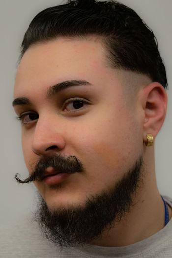 Cool Man Stylish Beard Hair Style Haircut Mustache Style Urban