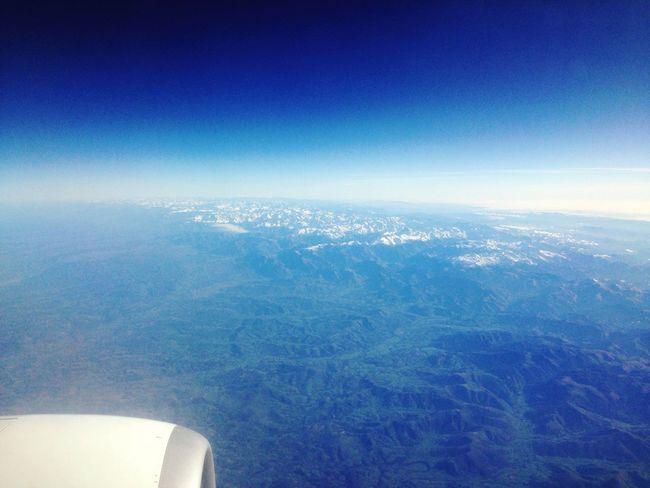 From An Airplane Window France SPAIN Pirineos Pirineus Airplane Traveling Flying