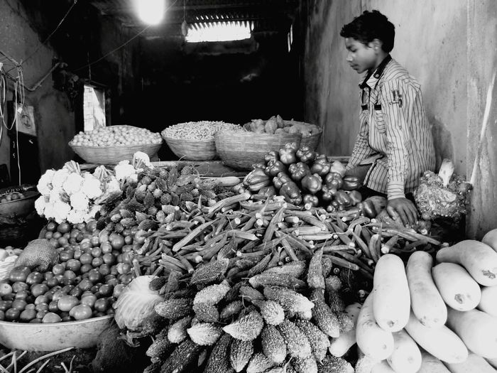 Vegetables Blackandwhite Blackandwhite Photography Childlabor MixVeggies RuralIndia