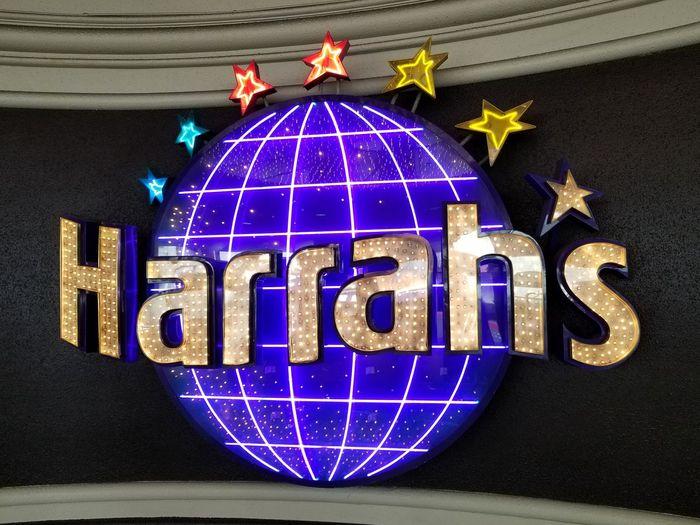 Harrah's Vegas Sign Las Vegas NV December 2017 No People Day Close-up Outdoors