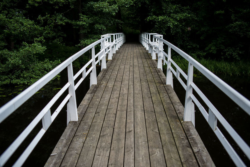Strömforsin Ruukki Riverside Rural Architecture Bridge - Man Made Structure Built Structure Country Life Countryside Day Footbridge Nature No People Outdoors Railing The Way Forward Tree White Wood - Material Wood Paneling