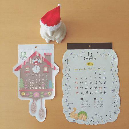 December 今月も、よろしくディセンバー↟ 12月 December ディセンバー カレンダー Calender しろくま貯金箱 北欧雑貨 ぬい撮り ぬいどり