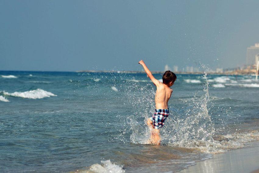 Summer is fun :) Summer Sun Swimming Play Kids Fun Enjoy Seaside Shore Beach Water Sea Sunny Kick Vacation Holiday