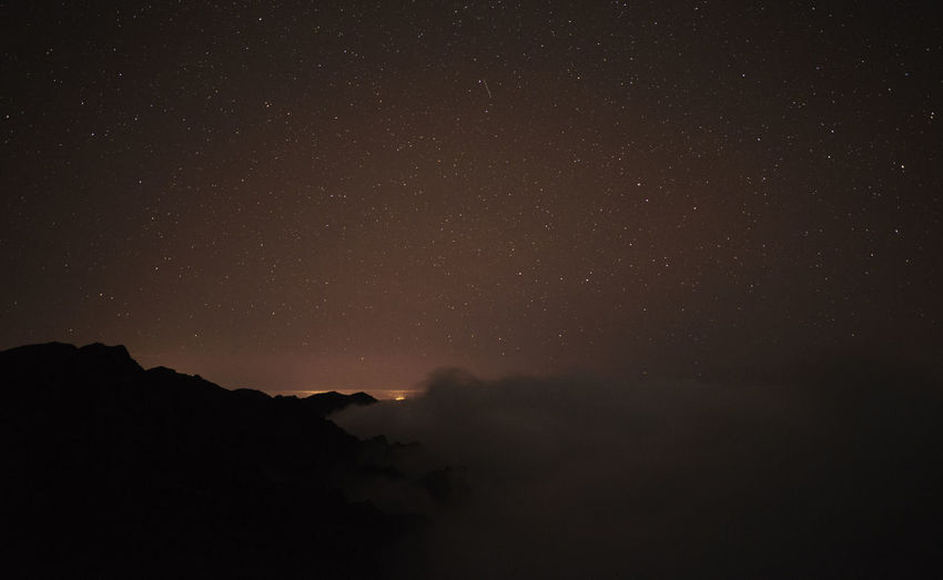 Astronomy Canary Islands Clouds Constellation Galaxy La Palma Low Angle View Milky Way Mountain Mountains Night No People Outdoors Roque De Los Muchachos Sky Space Spaın Star Field Tranquility
