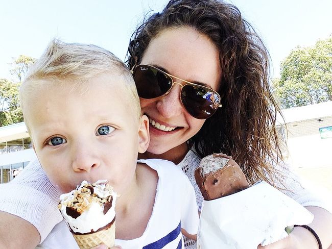 Eating ice cream vol.2 Kids Ice Cream Icecream Happiness Sunglasses BlueEyes Escaping From The Heat Family Love Kids