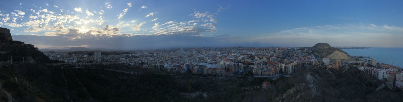 Panoramic Alicante Castillo De Santa Bárbara Taking Photos That's Me Hello World Hi! Relaxing Blue Other Colors .