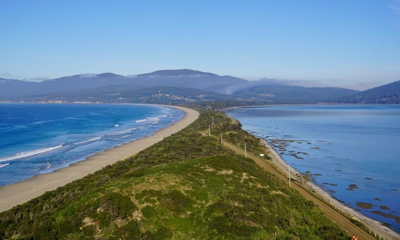 Tasmania Landscape Mountain Sea Scenics Water Beach Nature Blue Beauty In Nature Tranquility Outdoors Mountain Range Tranquil Scene No People Day Clear Sky Sky Landscape Travel Destinations Tasmania
