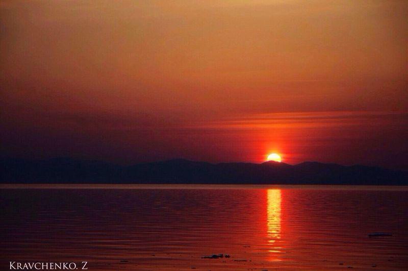 Закаты прекрасны Nature Sea Beauty In Nature Orange Color Sky No People