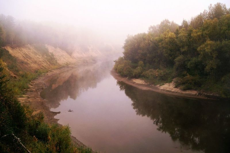 Morning on river Tara Beauty In Nature Fog Foggy On River Moning On River Tara Nature No People River Tree Water