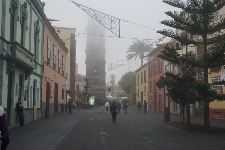 Tenerife España UNESCO World Heritage Site Architecture Building Exterior Built Structure City Day Lalaguna Modern Outdoors Pedestrian People Sky Street Tenerife Tenerife Island Teneriffa Unesco Walking