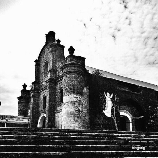 Sta Maria Church. I was impressed to see a grand staircase leading to the church. Churches during the Spanish-colonial era were known for their secondary function as a defense fortress, the Santa Maria Church is one good example of it.