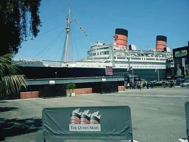 Approaching The Queen Mary, Long Beach, Ca. May, 2013.