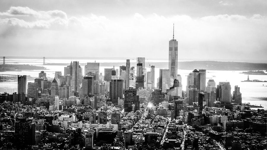 Great views New York City Black & White Cityscapes Hello World