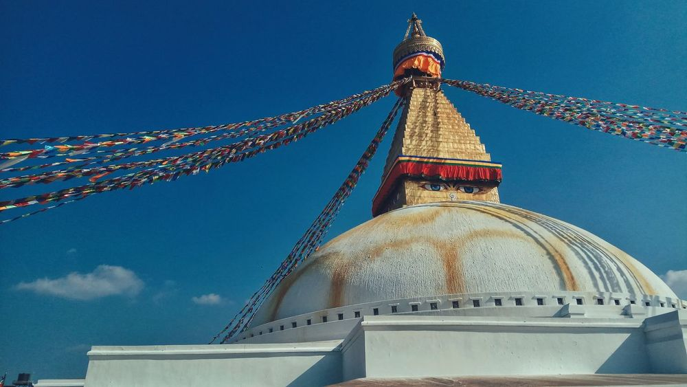 Boudhanath Stupa Religion Architecture Built Structure Travel Destinations World Heritage Site By UNESCO PhonePhotography EyeEmNewHere EyeEm Selects