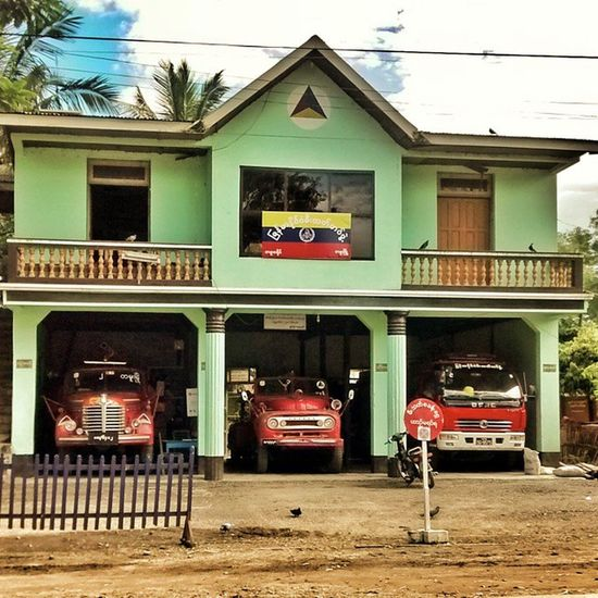 Some fantastic looking Fire Engines in Burma. Spotted on one of our expeditions across the border to Burma/ Myanmar. NEroadtrip IndiaTrail Burma Tamu Moreh Manipur Myanmar Fireengine Red Fire www.indiatrail.org www.facebook.com/indiatrail