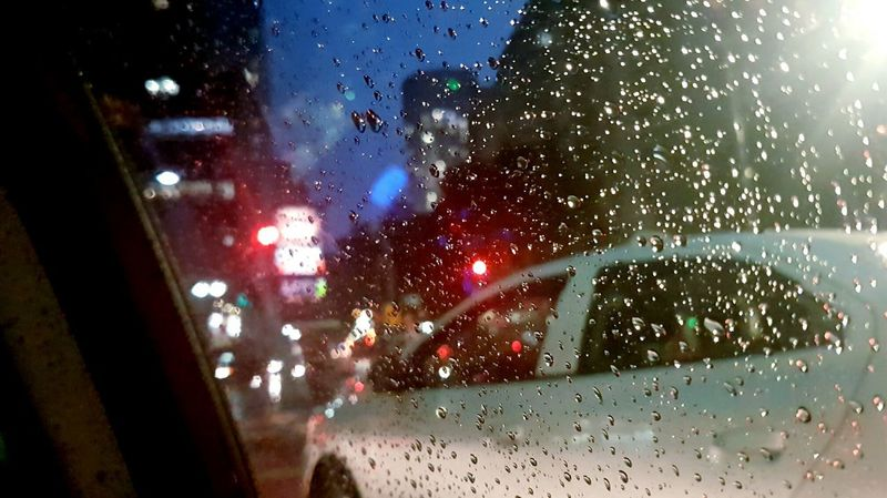 EyeEm Diversity Car Transportation Glass - Material Vehicle Interior Wet Car Interior Transparent Land Vehicle Windshield Window Rain Mode Of Transport Drop Close-up Weather Sky Night Rainy Season Water Dashboard Premium Collection Getty Images EyeEmNewHere Live For The Story