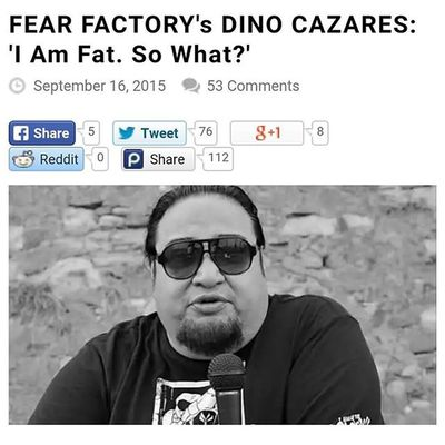 I love you man @dinocazares Fearfactory Hatersgonnahate Respect Waynesworld