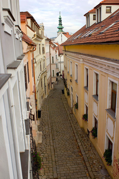 All cobblestone roads lead to a church. Cobblestone Streets Old Town Perspective Pozsony Slovakia Tourist Alley Alleyway Architecture Bratislava Building Exterior Built Structure Central Europe Cobblestone Day History Medieval No People Outdoors Sky Tourism Tourism Destination First Eyeem Photo