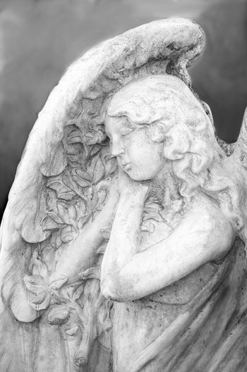 angelic angel statues in black and white Angels ArtWork Beautiful People Statue Unearthly  Angelic Art Blacka Nd White Cement Prayer Religion Religious  Stone Material Wings Religion Statue Human Representation Religion And Beliefs Sculpture Spirituality Praying Angel Wings Religious Art Female Likeness Pretty Religious