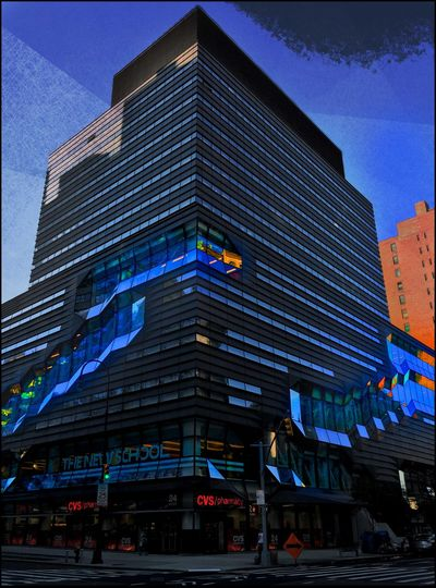 the New School exterior - 7/24/16 As I Sees It EyeEm StreetPhotography, NYC Fine Art Photography Fresh On Market July 2016 IPhone Creative Edits W/ Snapped 'n' Enlight On The Way Opportunistic Images On The Go The Journey Is The Destination