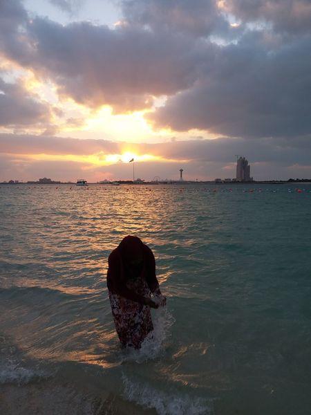 Water Sea Sunset Beach Nautical Vessel Low Tide Multi Colored Sand Sunlight Sun