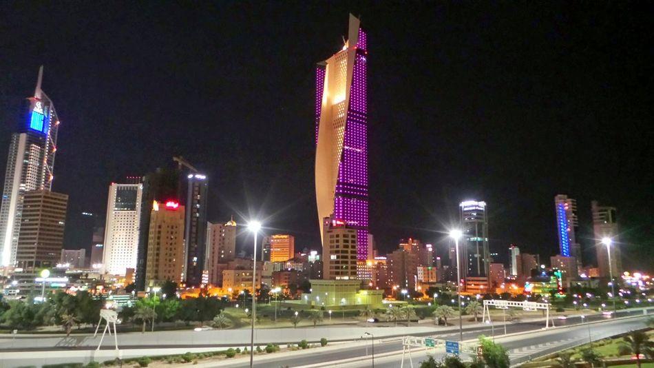 Cities At Night Kuwaitcity