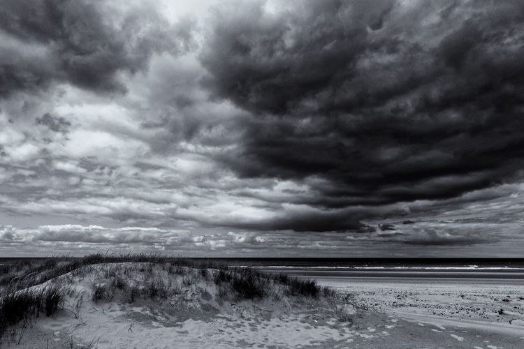 Above the Dunes 02. The big open skies over Holkham beach. Sony RX10 with edit in Lightroom, DXO pro 10 and Silver efex pro 2. Eye4photography  Taking Photos Holkham Landscape_photography Beachphotography Monochrome Sea And Sky Cloudporn Blackandwhite