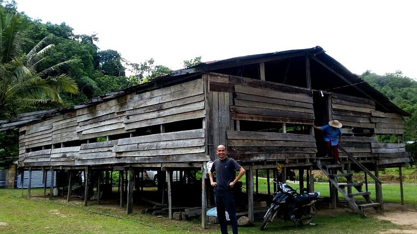 Long house Sabahan Borneo Island