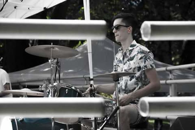 Side View Holding Person Casual Clothing Young Adult Drumsticks Drumkit Drummer